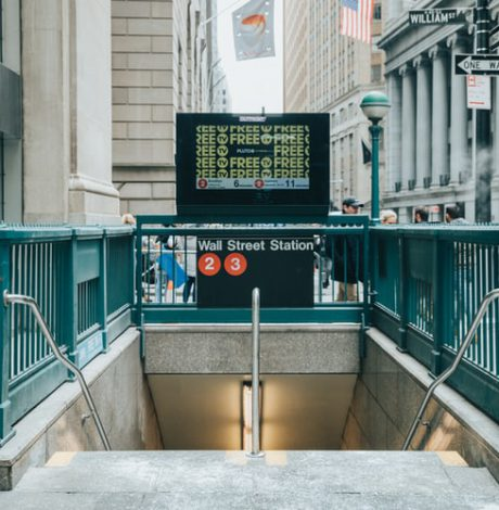 Wall Street subway station stairs